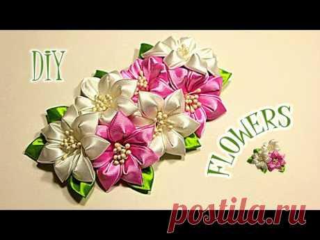 Flowers from Tapes for Varvara | Kanzasha Master - the Class | KANZASHI | DIY