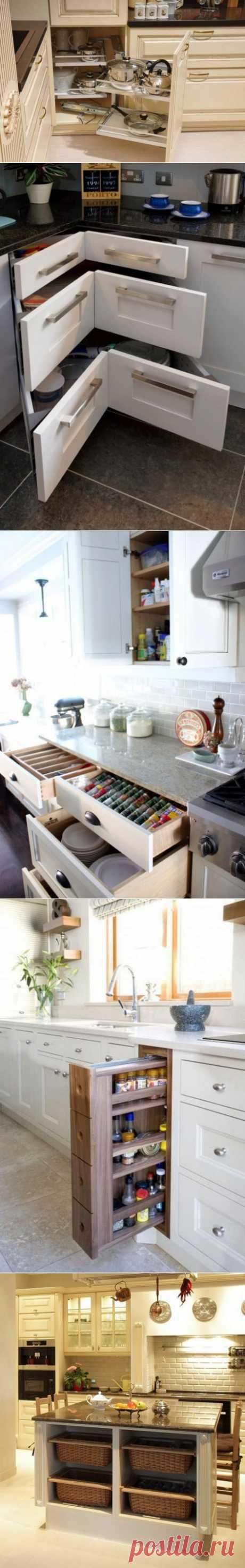 Выдвижные системы хранения для кухни | Школа Ремонта
