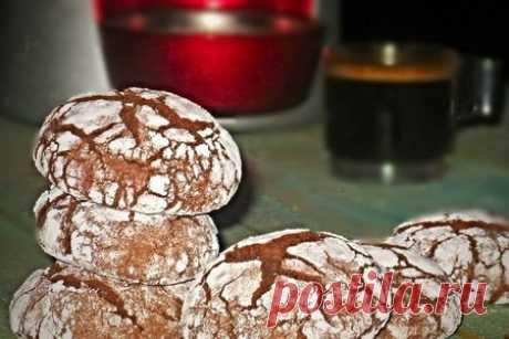 Crackled chocolate cookies - (треснутое шоколадное печенье) – пошаговый рецепт с фотографиями