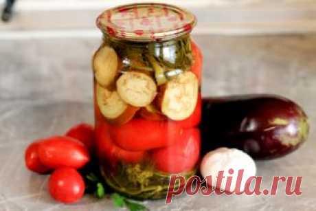 Маринованные помидоры с баклажанами на зиму: рецепт с фото