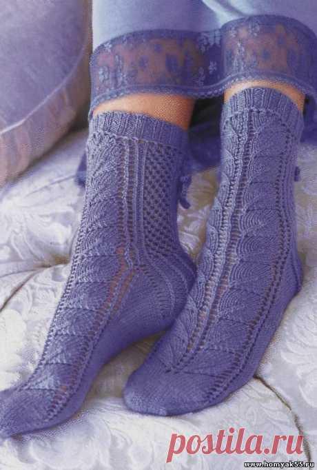 Носочки, тапочки для взрослых спицами » Страница 4 » «Хомяк55» - всё о вязании