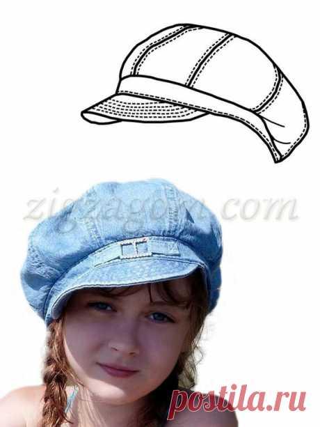 (422) Pinterest - Выкройка кепки-восьмиклинки | модели