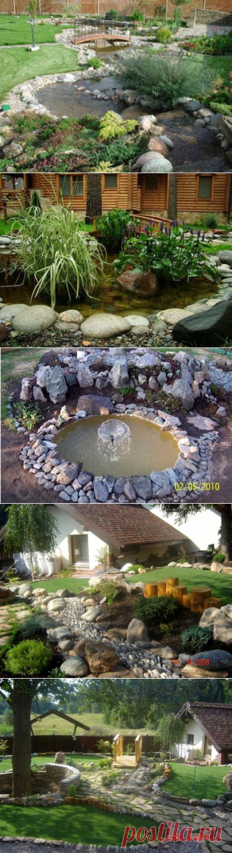 Водоемы и камни для украшения участка — 6 соток