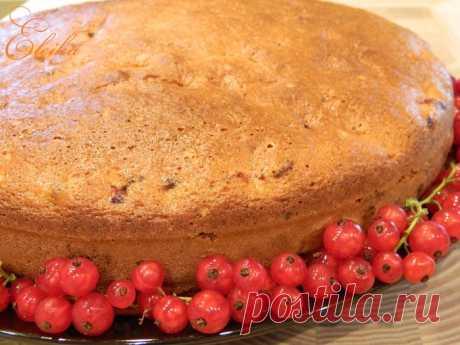 Пирог с красной смородиной «Проще простого»