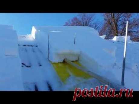 Очистка крыши от снега.Хороший способ!