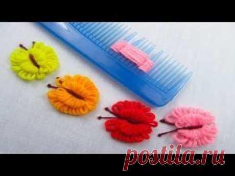ВЫШИВКА для начинающих ШОВ ПЕСТИК   EMBROIDERY for beginners pistil stitch   Cantinho do Video