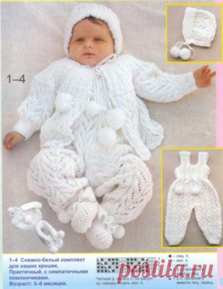 Костюм тройка связанный для новорожденного - Костюмчики для новорожденных со схемами вязания - Вязание для новорожденных - Последние схемы и модели для крючка и спиц - Вязание для души