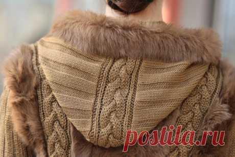 женская кожаная куртка с вязаными вставками: 20... / Рукоделие / одежда / Pinme.ru