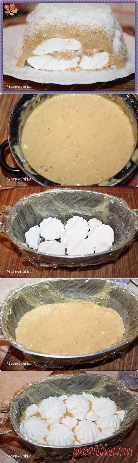 Холодный торт с зефиром( без выпечки)