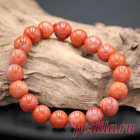 Red agate bracelet-Beaded gemstone stretch Bracelet-Woman | Etsy