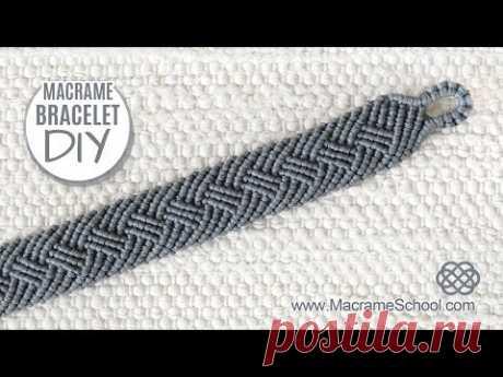 Braided Men's Bracelet Tutorial by Macrame School