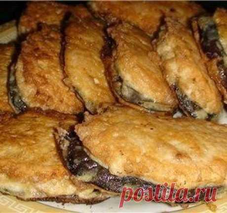 """Las berenjenas fritas """"под мясом"""". ¡Simplemente y es sabroso! La receta original """"Синьор баклажан""""."""
