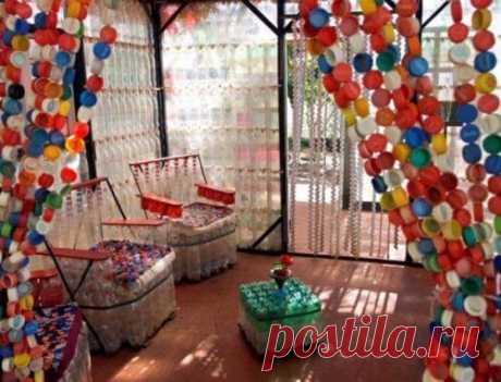 Креативное применение крышек от пластиковых бутылок