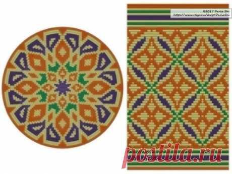 PATTERN:Morocco Set of Wayuu Mochila Patterns Mochila Bag