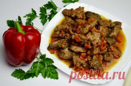 Говяжья печень с луком и морковью в мультиварке — Sloosh – кулинарные рецепты