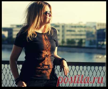 Роспись футболки | Самоделкино