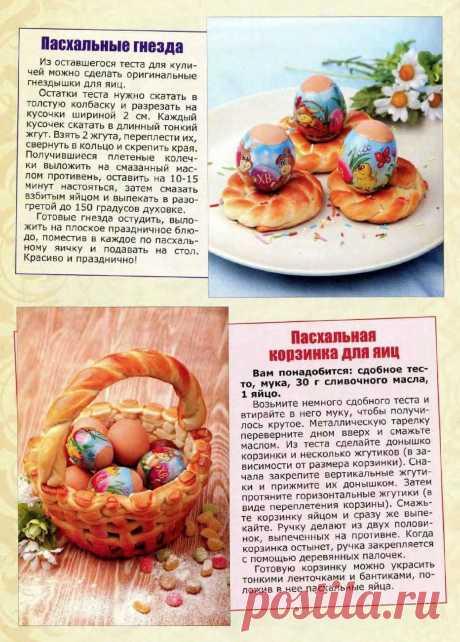 Пасхальные гнезда. Пасхальная корзинка для яиц