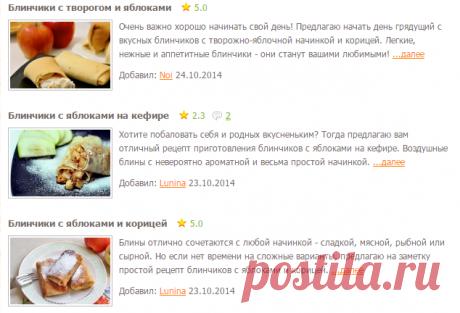 Блины с яблоками - рецепты с фото на Повар.ру