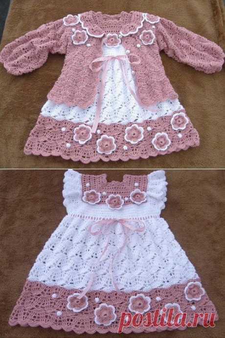 Детское платье крючком и жакетик