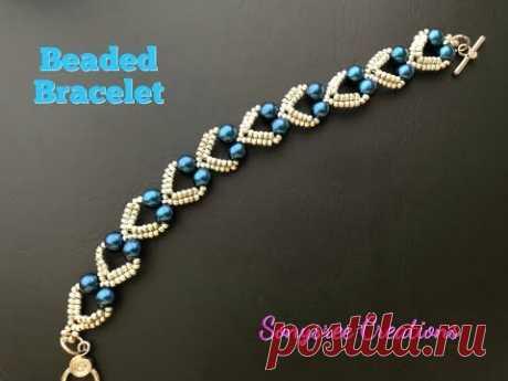 Lovely Hearts Bracelet. DIY Beaded Bracelet. How to make beaded Bracelet \ud83d\udc9e