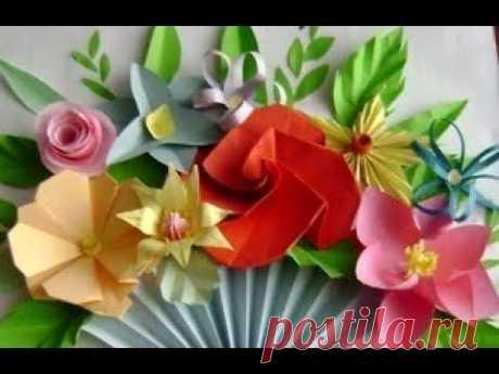 Что подарить маме бабушке на 8 Марта Красивые цветы из бумаги🌹Цветы из бумаги поделки своими руками