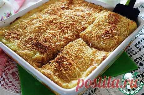 Картофельное пюре, запеченное с чесноком и сыром. Автор: tomi_tn
