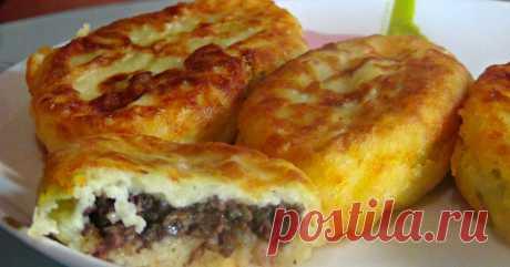 Potato zrazas with mushrooms