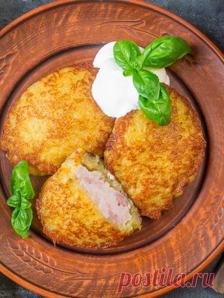 Рецепт драников с мясом на Вкусном Блоге
