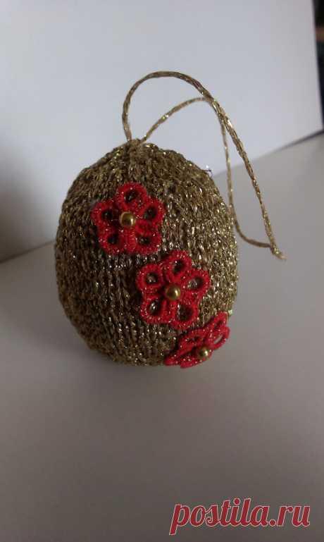 Velikonoční zlatá vejce s červenými květy / Zboží prodejce irina harnisch | Fler.cz