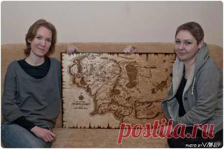Как мы делаем панно: Карта Средиземья, этапы работы с пояснениями | VZBRELO: блог о дереве | Яндекс Дзен