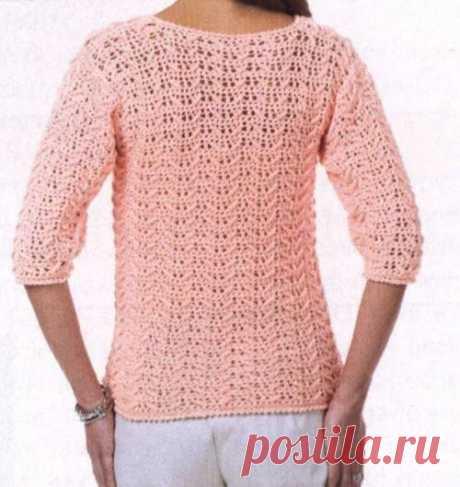 Розовый пуловер — Три Руки — мир эксклюзивных вещей