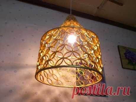 D.I.Y. Lamp made from reused paper