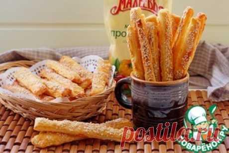 Сырно-творожные хрустящие палочки - кулинарный рецепт