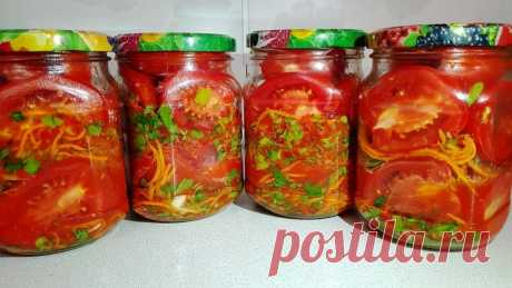 Безумно вкусные и пикантные помидорки по-корейски на зиму! - БУДЕТ ВКУСНО! - медиаплатформа МирТесен