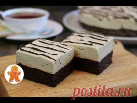 Брауни с муссом из маршмеллоу ✧ Marshmallow Mousse Brownies (English Subtitles)