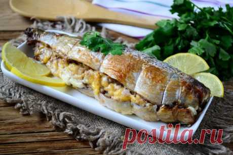 MACKEREL WITH THE NUT AND CHEESE STUFFING