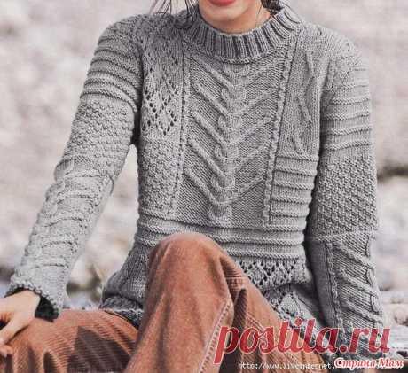 Вязаная история № 38 Пуловер Rustique из журнала Tricots Creatifs № 12, 2011 - Вязание спицами - Страна Мам