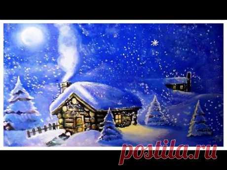 Как нарисовать зимний пейзаж акрилом и гуашью для начинающих. Как рисовать зиму