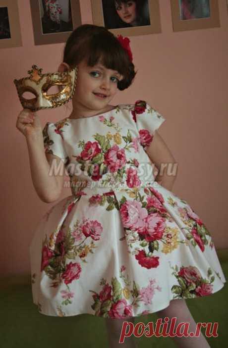 Праздничное платье для ребенка.  Мастер класс с пошаговыми фото
