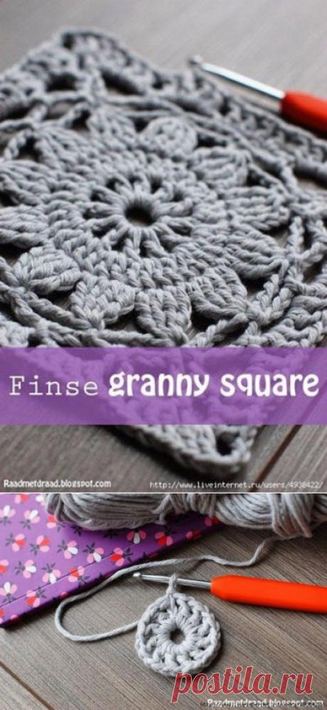 Финский бабушкин квадрат из категории Интересные идеи – Вязаные идеи, идеи для вязания