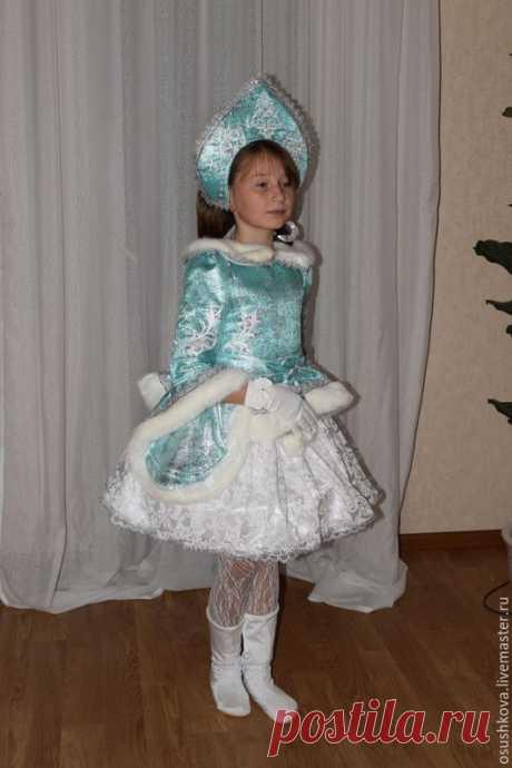 """Купить Костюм """"Снегурочка"""" - мятный, карнавальный костюм, карнавальное платье, костюм для девочки, костюм на новый год"""
