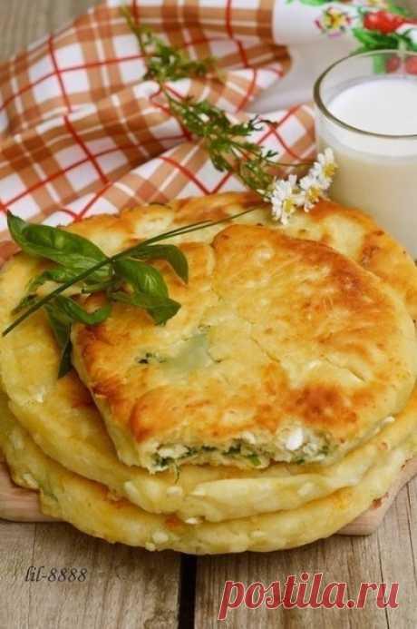 Как приготовить сырные лепешки с разными начинками. - рецепт, ингридиенты и фотографии