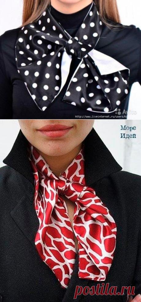 Французская косынка. Шейный платок. Выкройка. Два видео: как повязать