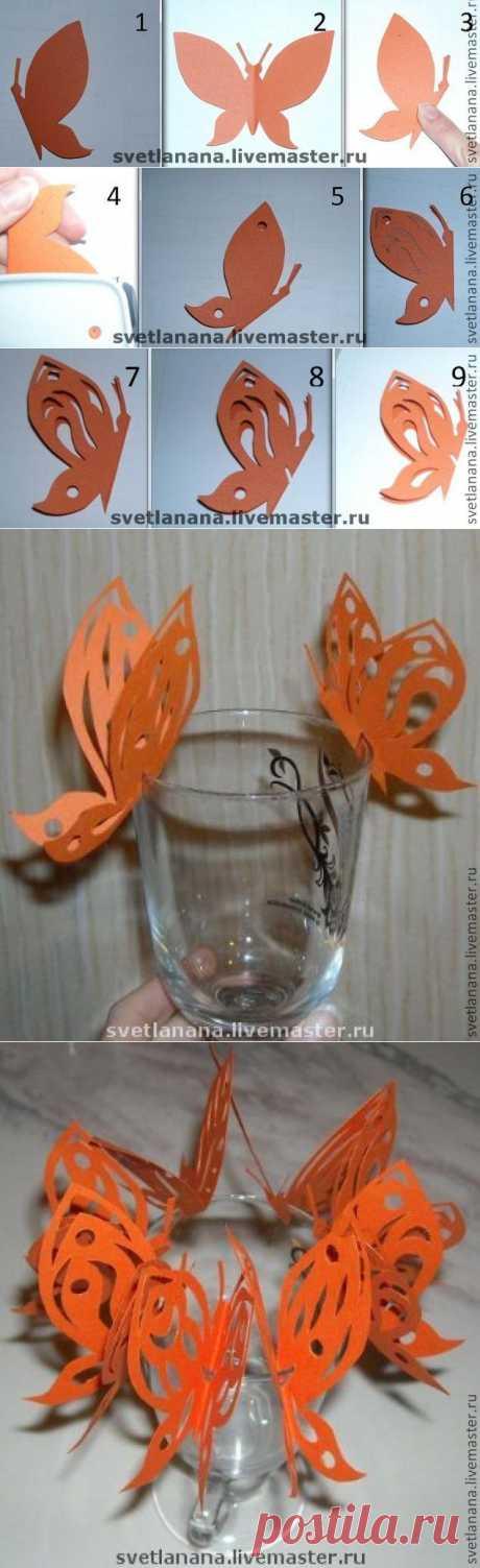 Ажурные бабочки - Ярмарка Мастеров - ручная работа, handmade