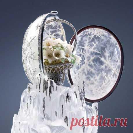 Самый дорогой сувенир, созданный по специальному заказу фирмой Фаберже, получил известность под названием «Зимнее яйцо»