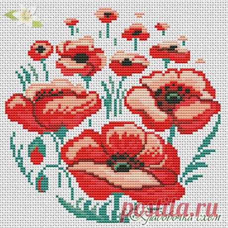 Маки, анемоны - Цветы - Схемы в XSD - Кладовочка схем - вышивка крестиком
