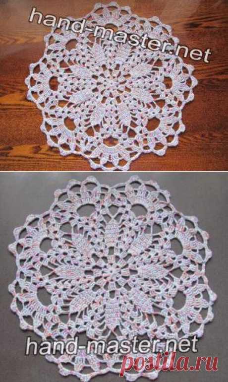 Салфетка крючком Ажурные цветы | Вязание крючком & спицами