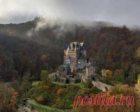 Картинки природа, осень, замок, германия - обои 1280x1024, картинка №418805