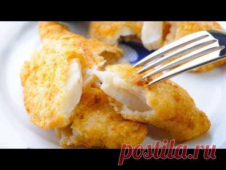 Вкуснейшая рыба в хрустящем кляре, приготовленная в казане. Рыба в кляре.