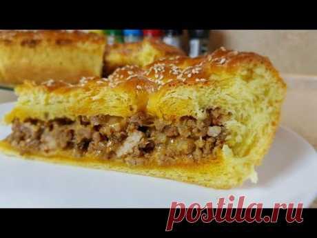 Пирог с МЯСОМ, бабушкин рецепт, цыганка готовит. Gipsy cuisine.